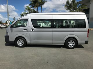 2010 Toyota HiAce KDH223R MY10 Commuter High Roof Super LWB Silver Mica 4 speed Automatic Bus