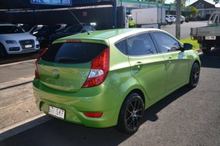 2012 Hyundai Accent RB Active Green 4 Speed Automatic Hatchback.
