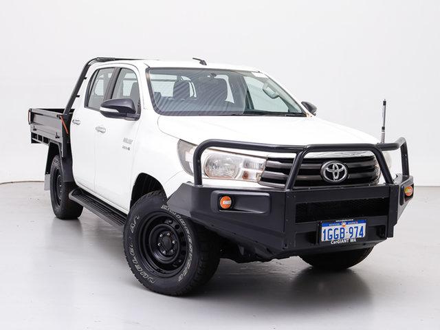 Used Toyota Hilux GUN126R SR (4x4), 2016 Toyota Hilux GUN126R SR (4x4) White 6 Speed Automatic Dual Cab Chassis