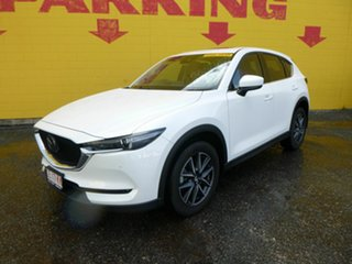 2017 Mazda CX-5 KF4W2A Akera SKYACTIV-Drive i-ACTIV AWD White 6 Speed Sports Automatic Wagon