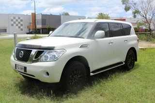 2013 Nissan Patrol Y62 ST-L White 7 Speed Sports Automatic Wagon.