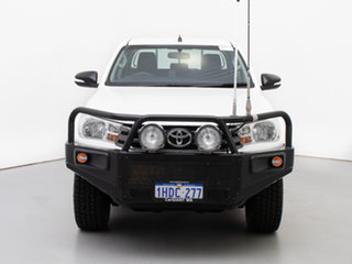 2015 Toyota Hilux GUN126R SR (4x4) White 6 Speed Manual Dual Cab Chassis.