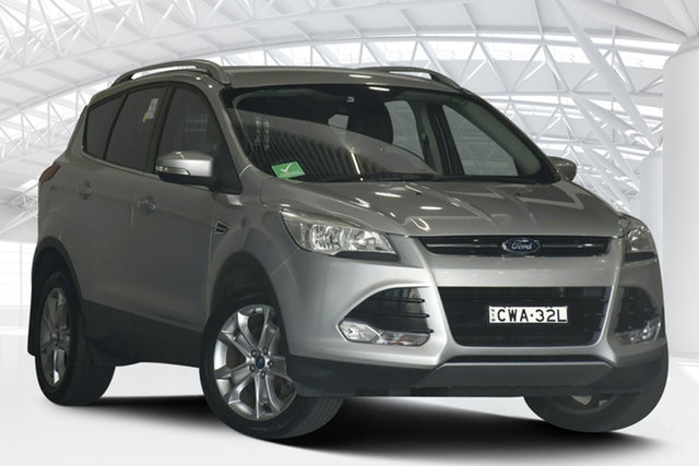 Used Ford Kuga TF Trend PwrShift AWD Moorebank, 2014 Ford Kuga TF Trend PwrShift AWD Silver 6 Speed Sports Automatic Dual Clutch Wagon