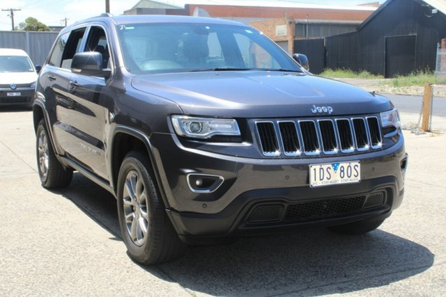 Used Jeep Grand Cherokee WK MY15 Laredo (4x4) West Footscray, 2014 Jeep Grand Cherokee WK MY15 Laredo (4x4) Grey 8 Speed Automatic Wagon