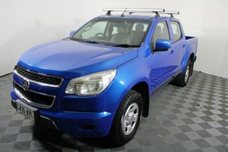 2012 Holden Colorado RG MY13 LX Crew Cab Blue 6 Speed Sports Automatic Utility.