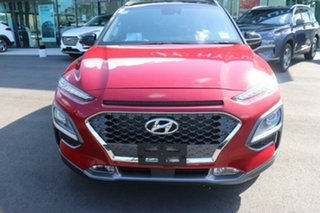 2020 Hyundai Kona OS.3 MY20 Highlander 2WD Pulse Red  Black Roof 6 Speed Sports Automatic Wagon