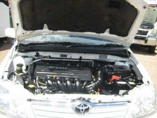 2007 Toyota Corolla White Automatic Sedan.