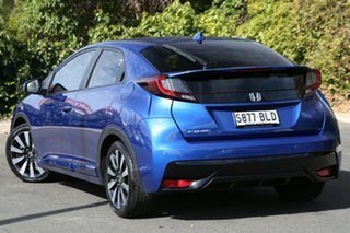 2016 Honda Civic 9th Gen MY15 VTi-LN Brilliant Sporty Blue 5 Speed Sports Automatic Hatchback.