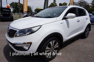 2011 Kia Sportage SL Platinum White 6 Speed Sports Automatic Wagon.