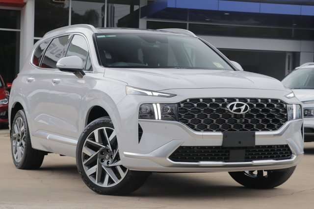 New Hyundai Santa Fe Tm.v3 MY21 Highlander DCT Tuggerah, 2020 Hyundai Santa Fe Tm.v3 MY21 Highlander DCT Glacier White 8 Speed Sports Automatic Dual Clutch