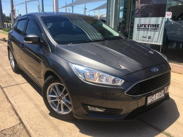Used Ford Focus LZ Trend Dubbo, 2015 Ford Focus LZ Trend Grey 6 Speed Automatic Hatchback