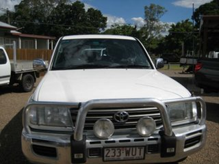 2005 Toyota Landcruiser White Automatic Wagon.