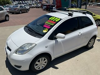 2010 Toyota Yaris NCP90R 08 Upgrade YR White 5 Speed Manual Hatchback