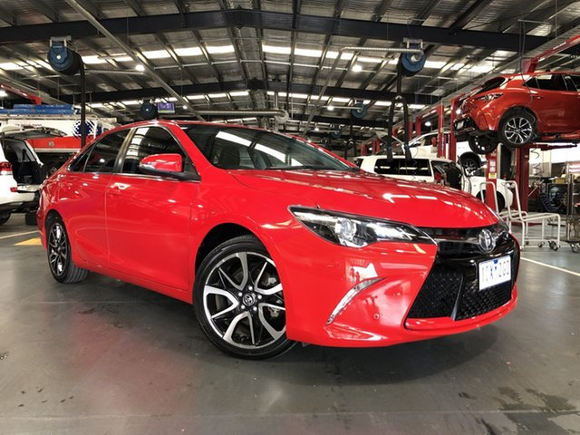 Pre-Owned Toyota Camry ASV50R Atara SX Oakleigh, 2016 Toyota Camry ASV50R Atara SX Red 6 Speed Sports Automatic Sedan