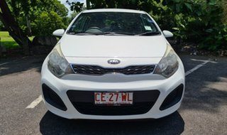 2014 Kia Rio UB MY14 S White 6 Speed Manual Hatchback