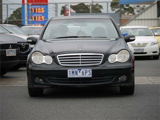 2004 Mercedes-Benz C-Class W203 C180 Kompressor Classic Black Automatic Sedan.