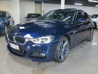 2018 BMW 3 Series F30 LCI 340i M Sport Tanzanite Blue 6 Speed Manual Sedan.