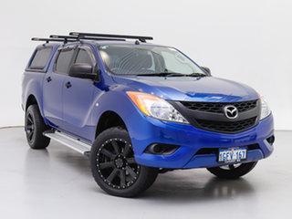 2012 Mazda BT-50 XT (4x4) Blue 6 Speed Manual Dual Cab Utility.
