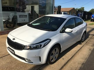 2017 Kia Cerato YD S White Sports Automatic.