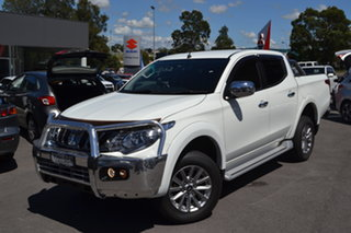 2017 Mitsubishi Triton MQ MY17 GLS Double Cab White 6 Speed Manual Utility.