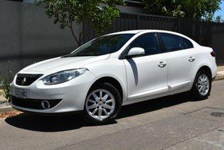 2011 Renault Fluence L38 Dynamique White 6 Speed Constant Variable Sedan.