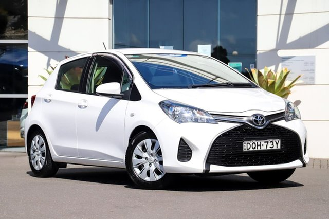 Used Toyota Yaris NCP130R Ascent Sutherland, 2015 Toyota Yaris NCP130R Ascent White 5 Speed Manual Hatchback