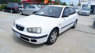 2001 Hyundai Elantra XD GL White 4 Speed Automatic Hatchback.