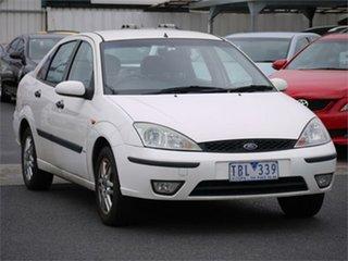 2004 Ford Focus LR SR CL White Automatic Sedan.
