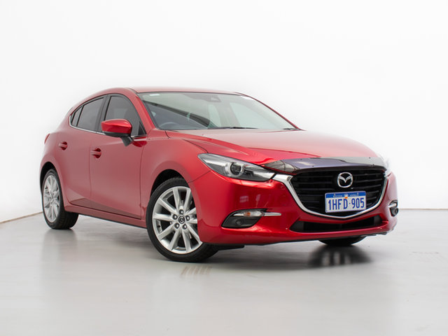 Used Mazda 3 BN MY17 SP25 GT, 2018 Mazda 3 BN MY17 SP25 GT Red 6 Speed Automatic Hatchback