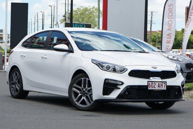 Demo Kia Cerato BD MY21 Sport+ Mount Gravatt, 2020 Kia Cerato BD MY21 Sport+ Clear White 6 Speed Sports Automatic Hatchback