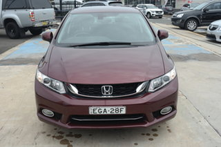 2014 Honda Civic 9th Gen Ser II MY13 VTi Red 5 Speed Sports Automatic Sedan.
