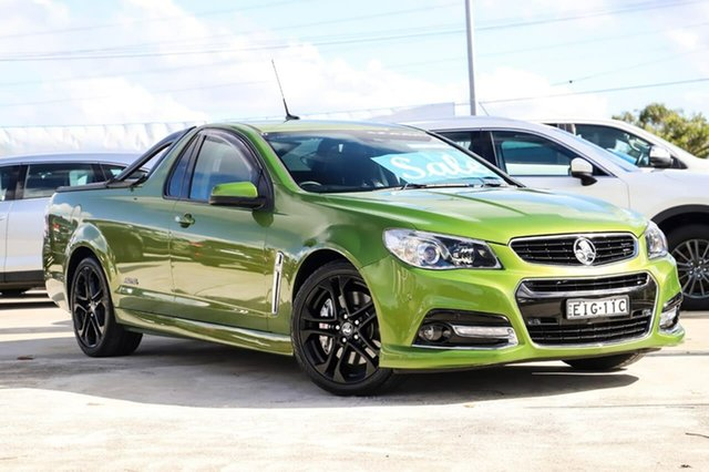 Used Holden Ute VF MY15 SS V Ute Redline Kirrawee, 2015 Holden Ute VF MY15 SS V Ute Redline Hot House Green 6 Speed Manual Utility