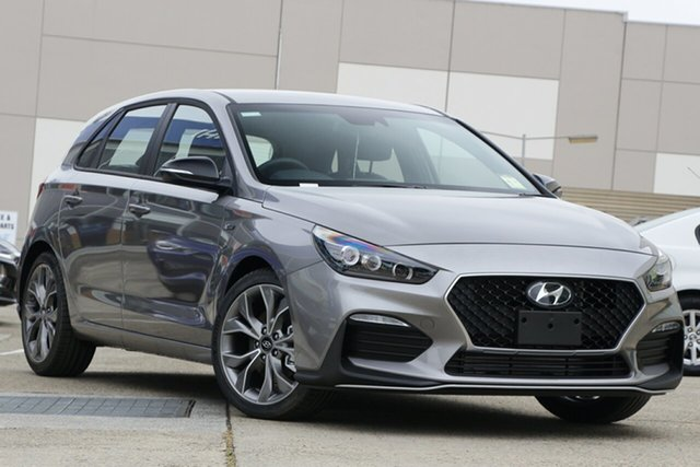New Hyundai i30 PD.V4 MY21 N Line D-CT Castle Hill, 2020 Hyundai i30 PD.V4 MY21 N Line D-CT Grey 7 Speed Sports Automatic Dual Clutch Hatchback
