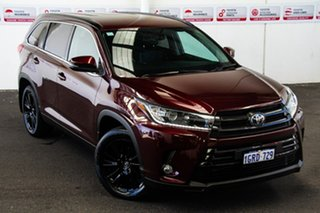 Toyota Kluger Deep Red Wagon.