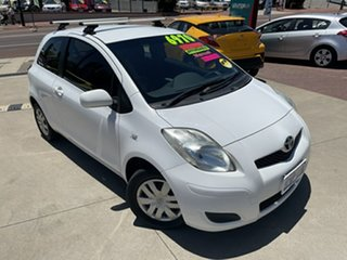 2010 Toyota Yaris NCP90R 08 Upgrade YR White 5 Speed Manual Hatchback.