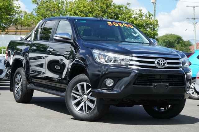 Used Toyota Hilux GUN126R SR5 Double Cab Mount Gravatt, 2016 Toyota Hilux GUN126R SR5 Double Cab Black 6 Speed Sports Automatic Utility