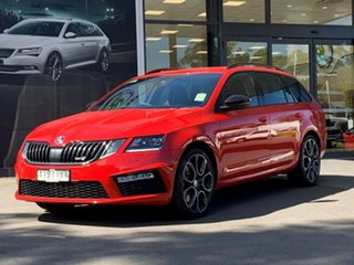 2020 Skoda Octavia NE MY20.5 RS DSG 245 Red 7 Speed Sports Automatic Dual Clutch Wagon.