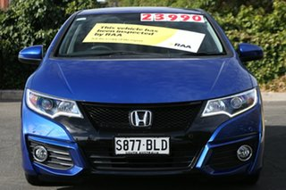 2016 Honda Civic 9th Gen MY15 VTi-LN Brilliant Sporty Blue 5 Speed Sports Automatic Hatchback