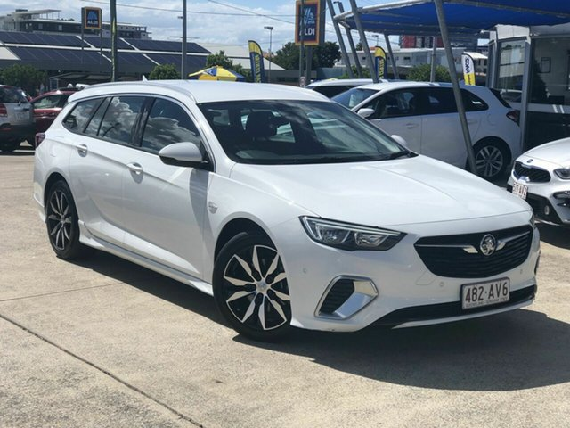 Used Holden Commodore ZB MY18 RS Sportwagon Chermside, 2018 Holden Commodore ZB MY18 RS Sportwagon White 9 Speed Sports Automatic Wagon