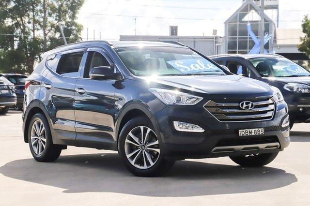 Used Hyundai Santa Fe DM2 MY15 Elite Kirrawee, 2015 Hyundai Santa Fe DM2 MY15 Elite Blue 6 Speed Sports Automatic Wagon
