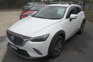 2015 Mazda CX-3 DK4W7A Akari SKYACTIV-Drive i-ACTIV AWD White 6 Speed Sports Automatic Wagon.