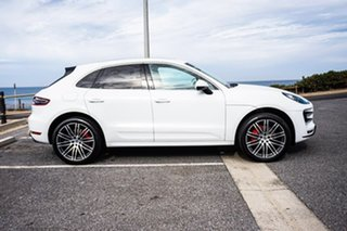 2014 Porsche Macan 95B MY15 Turbo PDK AWD White 7 Speed Sports Automatic Dual Clutch Wagon.