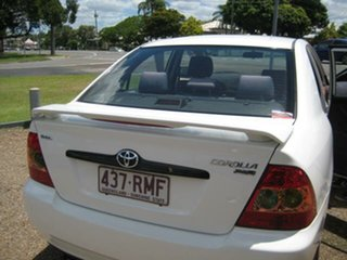 2007 Toyota Corolla White Automatic Sedan
