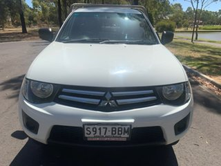 2014 Mitsubishi Triton MN MY15 GLX 4x2 White 4 Speed Sports Automatic Cab Chassis.