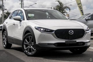 2020 Mazda CX-30 DM4WLA G25 SKYACTIV-Drive i-ACTIV AWD Astina White 6 Speed Sports Automatic Wagon.