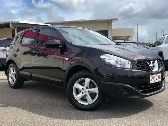 Used Nissan Dualis J10 Series II MY2010 ST Hatch X-tronic Garbutt, 2012 Nissan Dualis J10 Series II MY2010 ST Hatch X-tronic Plum 6 Speed Constant Variable Hatchback