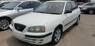 2003 Hyundai Elantra XD MY04 White 4 Speed Automatic Hatchback