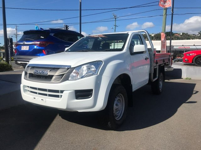 Used Isuzu D-MAX MY15 SX 4x2 High Ride Mount Gravatt, 2015 Isuzu D-MAX MY15 SX 4x2 High Ride White 5 Speed Sports Automatic Cab Chassis