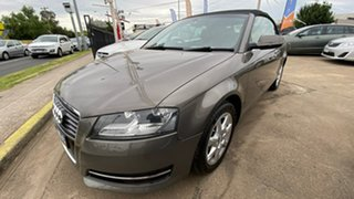 2011 Audi A3 8P MY11 TFSI S Tronic Ambition Grey 6 Speed Sports Automatic Dual Clutch Convertible.