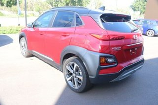 2020 Hyundai Kona OS.3 MY20 Highlander 2WD Pulse Red  Black Roof 6 Speed Sports Automatic Wagon.